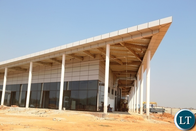Airport Shopping mall 70% done at Kenneth Kaunda International (KKIA) one of the facility costing $360 million
