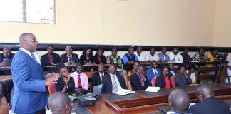 Mr. Chipango addressing civil servants