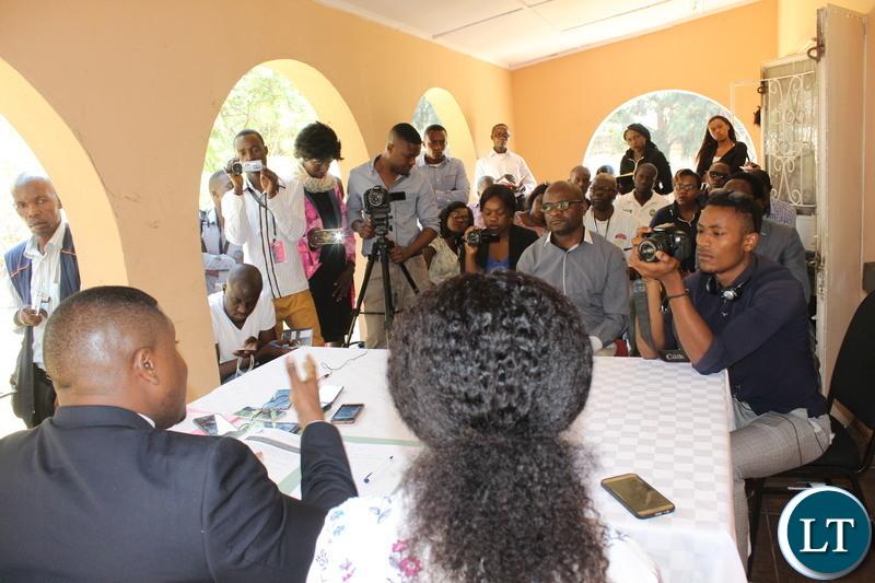 Media Briefing in Lusaka   with ZCID Board Spokesperson Jackson Silavwe