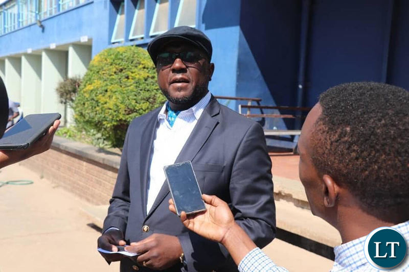 UPND Chairman for Elections Garry Nkombo at Lusaka Central Police