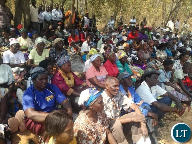 Area Member of Parliament Jonas Chanda Meeting the 1,000 displaced residents.