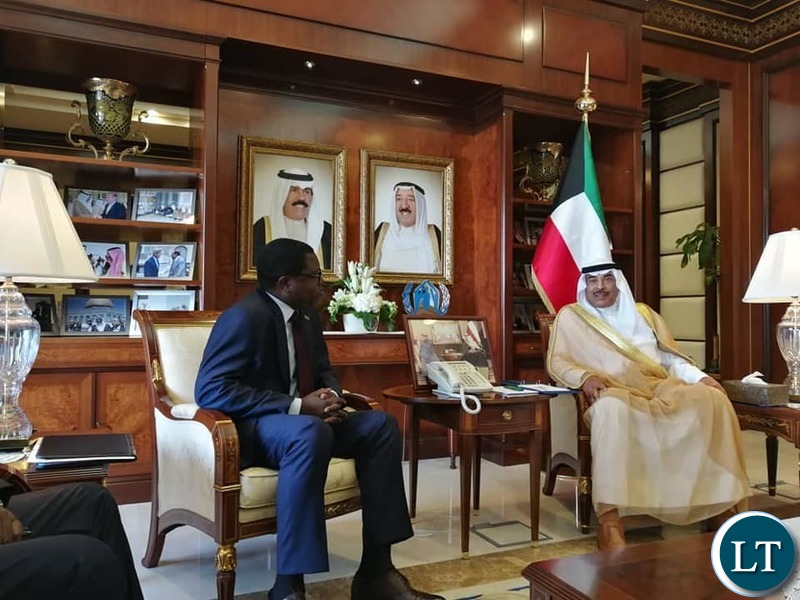 Minister of Foriegn Affairs Joseph Malanji in Kuwait