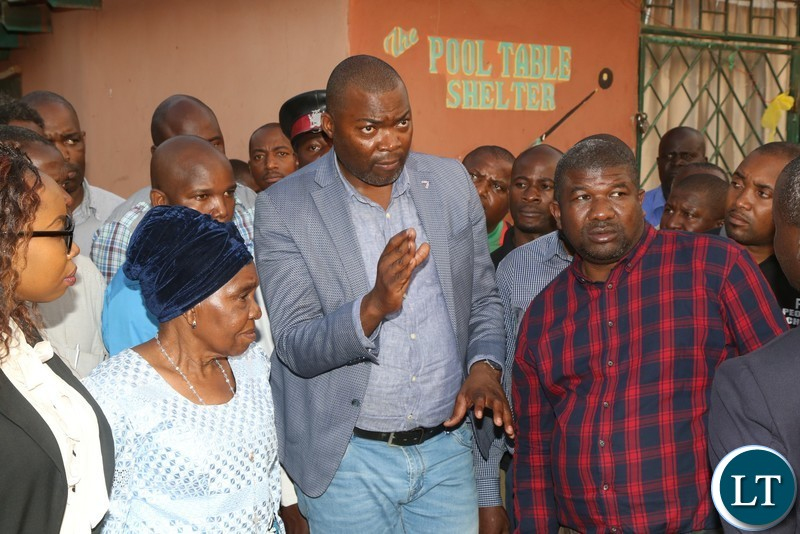 Lusaka Province Minister Bowman Lusambo greets Chieftanis Nkomeshya Mukamambo II when he paid a courtesy call on her in Chongwe District on Friday