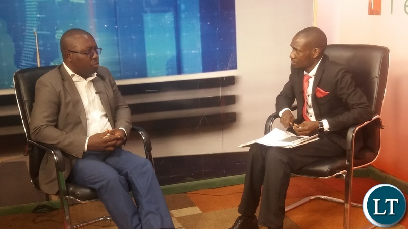 YALI President Andrew Ntewewe (L) on Prime TV