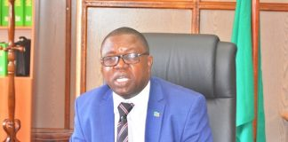 FOREIGN Affirs Minister,Joseph Malanji briefing the media