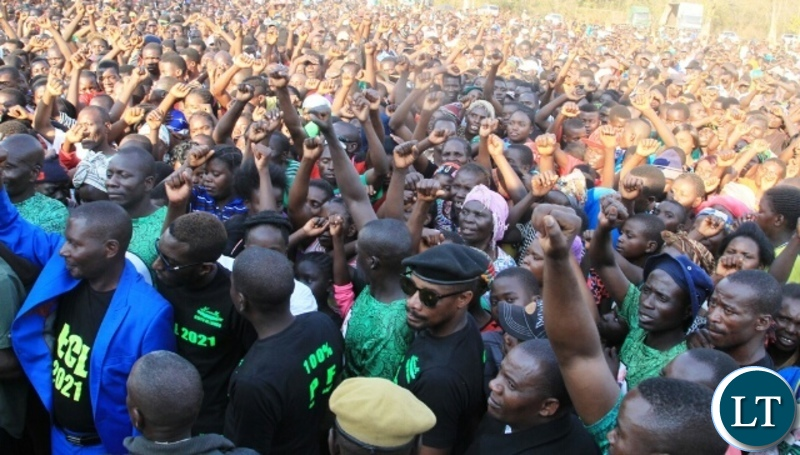 Part of the crowd that attended the rally in the Kasengwa bye-election slated for September 6th following the death of former MP Victoria Kalima