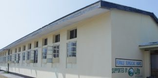 Lewanika General Hospital Female Surgical Ward painted by ZSIC-LIFE to celebrate 50 years in existence.