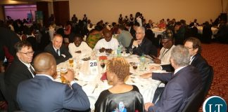 Delegates from the different part of the world attending the World Export Development Forum Gala Dinner at Pamodzi Hotel