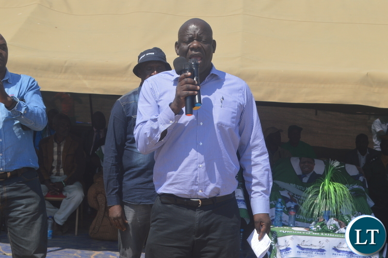 PF Secretary general Davies Mwila