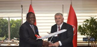 Dr Joseph Chilengi with Turkish Airlines Chief Executive Officer Bilal Eksi