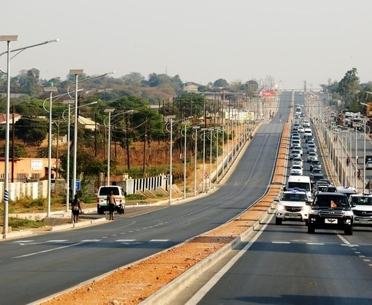 President Edgar Chagwa Lungu passes on Great North Road during the tour of Lusaka Roads under the L-400 Project on Saturday, September 15, 2018. PICTURE BY SALIM HENRY/STATE HOUSE 2018