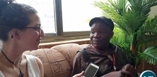 Fred M'membe being Interviewed in Ghana