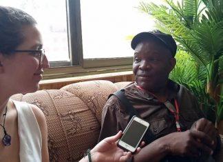 Fred M'membe being Interviewed in Ghana