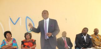 Felix Mutati Opening a two day Provincial Conference in Luapula