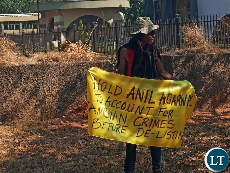 Maiko Zulu KCM Protest