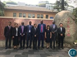 Lusaka Province Minister Bowman Lusambo after touring China Railway Eryuan Engineering Group Company Head Offices in Chengdu City of China.