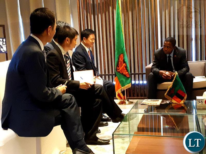 President Lungu meeting with Chinese Construction Companies