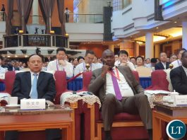 Lusaka Province Minister Bowman Lusambo following proceedings at the 3rd Western China Public Procurement Conference during the 17th Western China International Fair being held in Chengdu, Sichuan Province China.