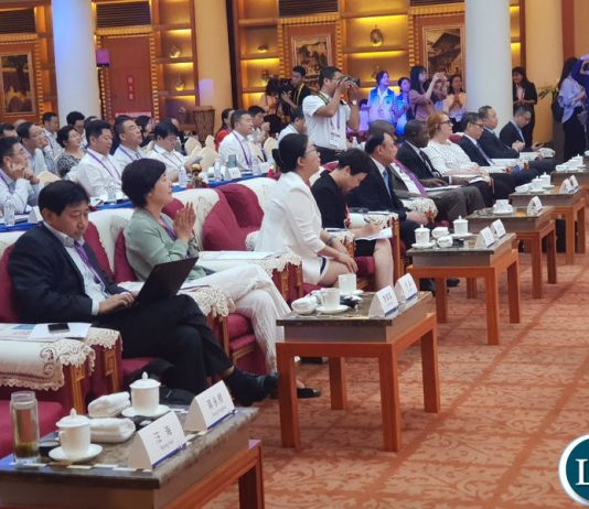 Part of the audience at the 3rd Western China Public Procurement Conference during the 17th Western China International Fair being held in Chengdu, Sichuan Province China.