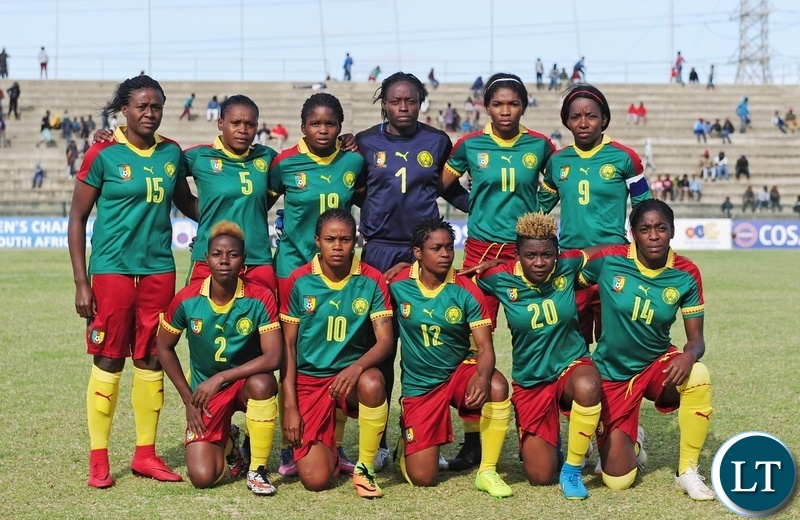 Cameroon team picture before during the 2018 Cosafa Womens Championship game between Zambia and Cameroon at Wolfson Stadium in Port Elizabeth on 15 September 2018 © Ryan Wilkisky/BackpagePix