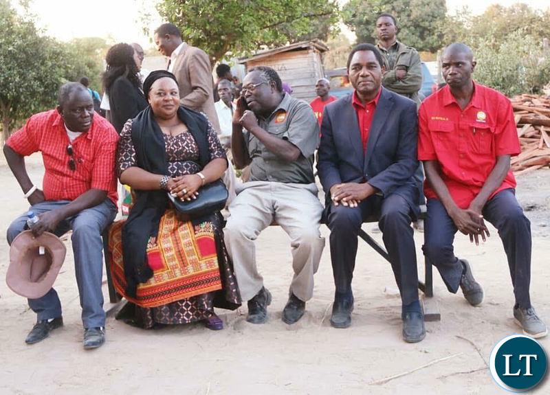 !HH and his team at the funeral of late Mangango MP Naluwa Mweene