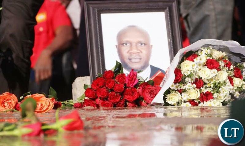 Late Mangango MP Naluwa Mweene casket