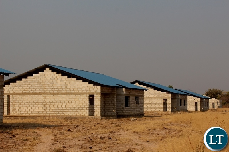 Medium Cost Housing units under construction, works have stalled at 60% in Luampa District of Western Province.
