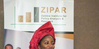 Dr. Pamela Nakamba Kabaso - Executive Director ZIPAR speaking at the 2019 National Budget Analysis Breakfast Meeting at Intercontinental Hotel recently