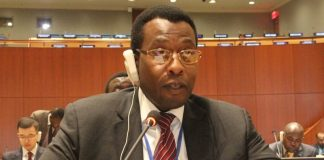 Mr Muki Phiri, First Secretary for Legal at the Permanent Mission of the Republic of Zambia to the United Nations (UN) delivering Zambia's statement on Universal Jurisdiction in New York.