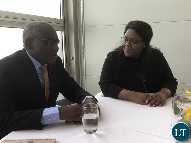 Tourism Minister Charles Banda in a meeting with Angola's Minister of Environment Paula Cristina Francisco Coelho at the London Conference on Illegal Wildlife Trade.