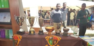 UNZA School of Law Trophies displayed at Golden Jubilee Commemoration Stand, 2016