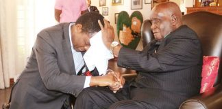 """Dr Kaunda """"blesses"""" HH after the meeting"""