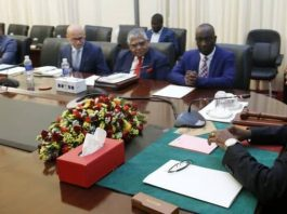 President Edgar Chagwa Lungu (right) interacts with Investors from Luapula Province on Investments and Developments programs in that region during a meeting at State House in Lusaka on Wednesday,October 17,2018. The Investors were in the company of Luapula Province Minister Nickson Chilangwa comprised of Sunbird Bio Energy Limited,MMRP Mining,Mansa Sugar,Kawambwa Sugar Project,GED AFRICA LIMITED. PICTURE BY SALIM HENRY/STATE HOUSE ©2018