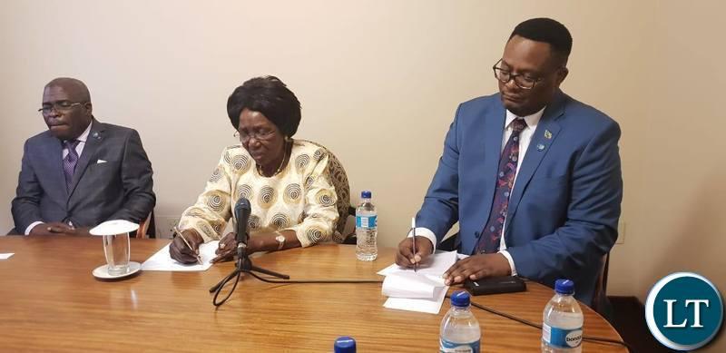 Zambia's Vice President Hon. Inonge Wina at the Ivan Hotel in Maseru, Lesotho.