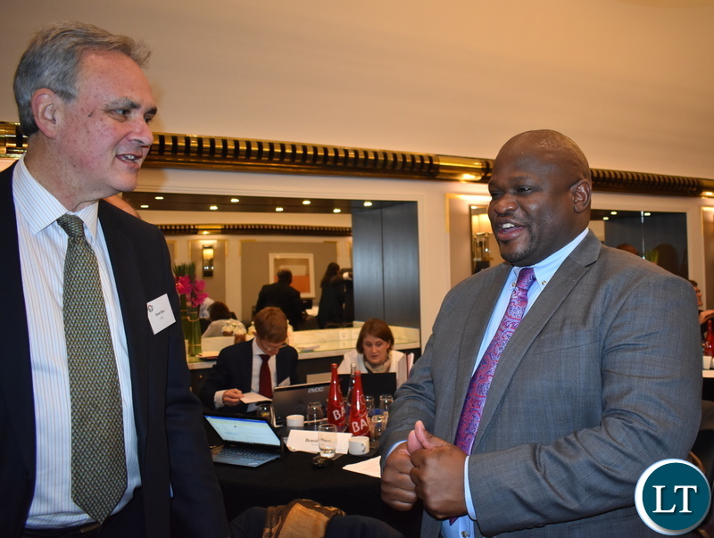2. Hon. ALexander Chiteme, and International Institute for Environmenta and Development Senior Associate Steve Bass at World Bank WAVES meenting Paris 28-11-2018. Pic Chibaula Silwamba
