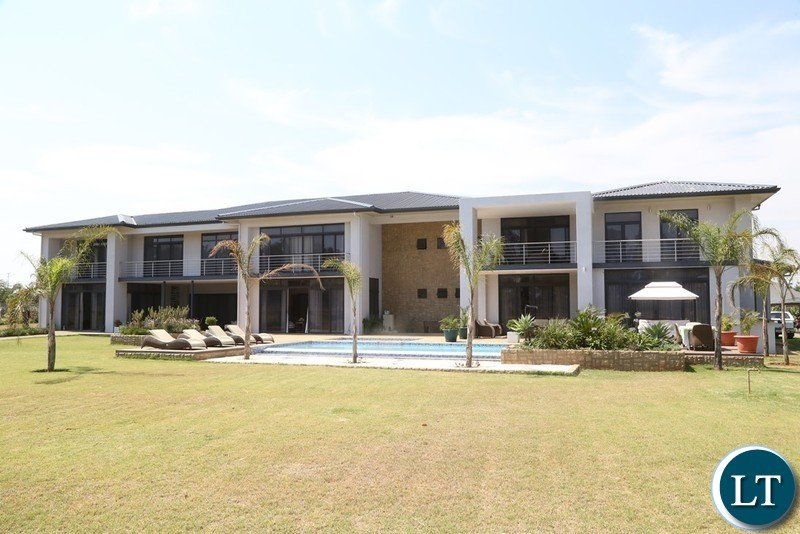Side view of the retirement House to the 4th Republican President Rupiah Banda at Bonaventure