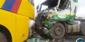 Chibombo Bus Truck Accident