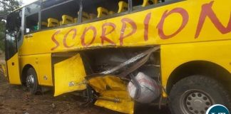 Chibombo Bus Truck Accident