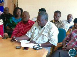 The Late Sesheke Member of Parliament, Hon. Frank Simone Kufakwandi (C)