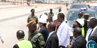 President Edgar Lungu Tour Ndola International airport Construction site