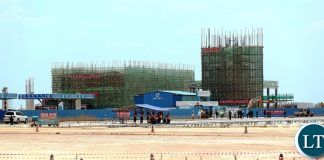 President Edgar Lungu Tour Ndola International airport Construction site Terminal Building