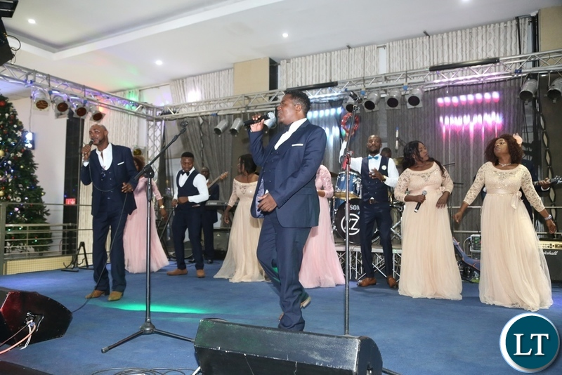 Air Power Band performing during the Zambia Air Force Annual Ball at Chamba Valley Banquet Hall
