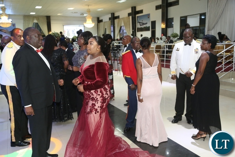 Defence Minister Davis Chama join the floor during the Zambia Air Force Annual Ball open floor at Chamba Valley Banquet Hall