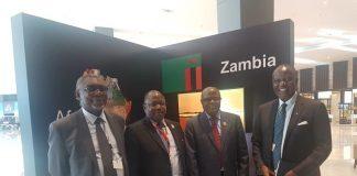 Hon Chris Yaluma minister of Commerce, Hon Felix Mutati, Lusaka lawyer Sakwiba Sikota and Maj Gen. Topply Lubaya Zambias Ambassador to Egypt.