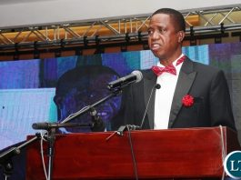 """President Edgar Chagwa Lungu at the First-ever-Annual Economics Gala Dinner organised by the Economics Association of Zambia under the theme: """"Uniting Towards Achieving An Integrated Approach To National Economic Development"""" atInterContinental Hotel on Wednesday, December 12,2018-Pictures by THOMAS NSAMA/STATE HOUSE"""