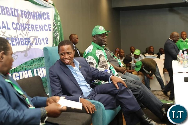 President Lungu and Party CEO Davies Mwila at the just Ended PF Conference