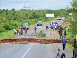 The washed away Msuzi bridge in Lundazi