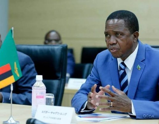 President Edgar Chagwa Lungu (right) speaks during the tour of Toshiba Energy Systems Keihin Operations in Tokyo,Japan on Tuesday,December 18,2018. PICTURE BY SALIM HENRY/STATE HOUSE ©2018