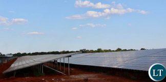Construction works of the $60 million, 54 megawatts solar plant at the Lusaka Multi Facility Economic Zone