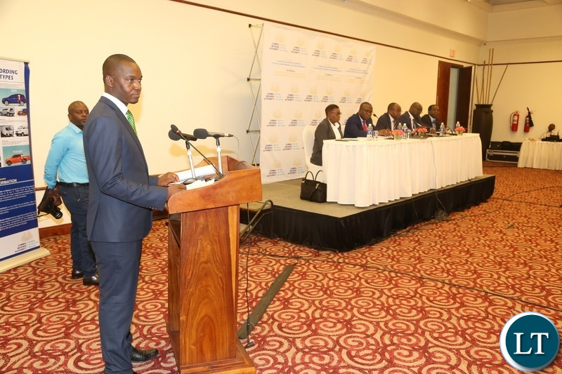 Topsy Sikalinda taking question from journalists during the press conference at Pamodzi Hotel
